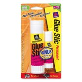 Glue Stic, Permanent, Washable, 1.27 oz., White