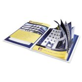 "Presentation Books, 24 Pages, 9-1/2""x11-1/2"", Blue"