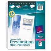 "Sheet Protector, Heavyweight, 8-1/2""x11"", 25/BX, Clear"