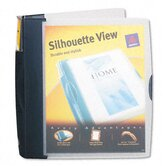 "Silhouette Poly View Binder with Inside Pocket, 1-1/2"" Capacity, Dark Blue"