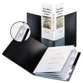 Spinevue Showfile Display Book with Index, 24 Letter-Size Sleeves