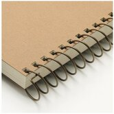 "Carla Craft 12"" 9mm Binding System Spiral Ring in Brown"