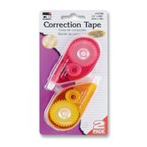 "Correction Tape, Nonrefillable, 1296"" L, White Tape"