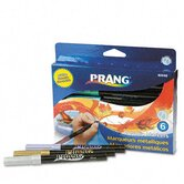 Prang Washable Markers, Bullet Tip ( Set of 6)