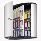 Locking Key Cabinet, 36-Key, Brushed Aluminum, 11 3/4 X 4 5/8 X 11
