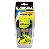 Value Charger, 2 Precharged Rechargeable AA NiMH Batteries