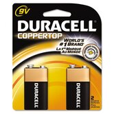 Coppertop Alkaline Batteries, 9V, 2/pack