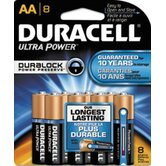 Duracell Ultra Power Durablock Batteries, AA, 8/Pack