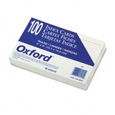 Ruled Index Cards, 4 x 6, White, 100 per Pack