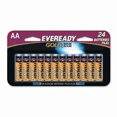Gold Alkaline Batteries, AA, 24/pack