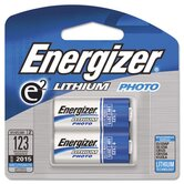 E2 Lithium Photo Battery, 123, 3V, 2/Pack