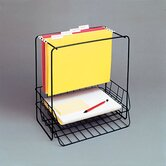 Wire Double Tray with Hanging File, Letter
