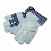 Men's Gunn Gloves with Leather Palm, Large, Gray/Multi, 12 per Pack