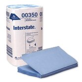 Interstate Two-Ply Single fold Auto Care Wiper in Blue