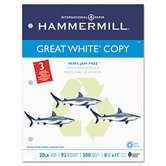 Great White Recycled Copy 3-Hole Punched Ppr, 92 Brightness, 20Lb, Ltr, 5000/Carton