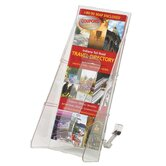 Lit. Rack, 1 Leaflet Size Pocket, 4-9/16&quot;x11-3/4&quot;x5-1/4&quot;, Clear