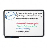 Premium Dry Erase Board, Coated Styrene, 36 x 24, White with Black Frame