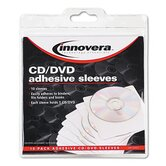 Self-Adhesive CD/DVD Sleeve, 10/Pack