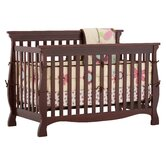 Carrara 4 in 1 Fixed Side Convertible Crib in Cherry