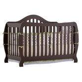 Monza Fixed Side Convertible Crib in Espresso