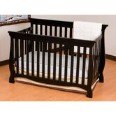 Carrara 4 in 1 Fixed Side Convertible Crib in Black