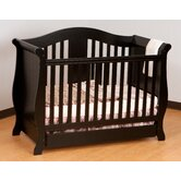 Vittoria 3 in 1 Fixed Side Convertible Crib in Black