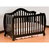 Monza 2 in 1 Fixed Side Convertible Crib in Black
