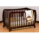 Monza II Fixed Side Convertible Crib in Cherry