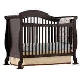 Valentia Fixed Side Convertible Crib in Black