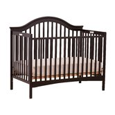 Ravena Fixed Side Convertible Crib in Black