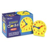 Set Of Six Four-Inch Geared Clocks