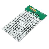 Magnetic Board Numbers, 3/4 High Black-on-White, 110/set