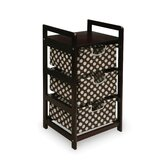 Espresso Three Drawer Hamper/Storage Unit