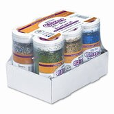 Spectra Glitter 6-Color Assortment, 4 oz. Shaker-Top Jars, 6 per Carton