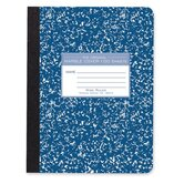 Composition Book, Wide Rule, 9-3/4&quot;x7-1/2&quot;, 100 Sheets, Assorted Marble