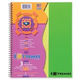 "Wirebound Notebook, 3-Sub, College Ruled, 150/Sheets, 11""x9"", Fluorescent"