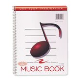 Music Notebook, Wirebound, 11&quot;x8-1/2&quot;, 32 Sheets