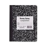 "Composition Book, College Ruled, 100 Sh, 9-3/4""x7-1/2"", Black Cover"