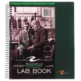 "Lab Book, Tri Pocket Cover, Wirebound, 8-1/2""x11"", 100 Sheets"