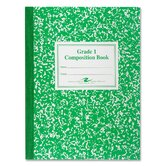 Grade School Ruled Composition Book, 9-3/4 x 7-3/4, 50 Sheets, Green