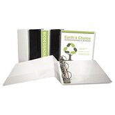 "EcoChoice Recycled Round Ring View Binder, 3"", White"