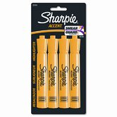 Accent Tank Style Highlighter, Chisel Tip, Fluorescent YW Ink, 4/set
