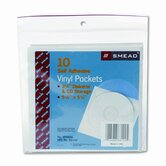Self-Adhesive Cd/Diskette Pockets, 10/Pack