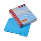 Waterproof Poly File Folders, 1/3 Cut Top Tab, Letter, 24/Box
