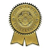Certificate Seals Embossed Foil, 12/Pack