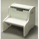 Storage Step Stool in White