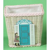 Basket with Doll Shop Motif