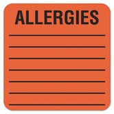 Medical Labels for Allergies, 500/Roll
