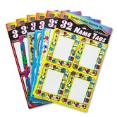 Name Tag Pack Paper Standard School Series, 192/Pack