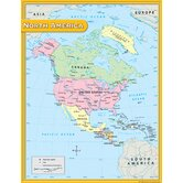 North America Map Chart 17x22
